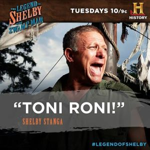 Shelby is ready to make his Toni Roni soup on The Legend of Shelby the Swamp Man