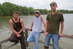 "Duck, Lathan and Flip featured on BUYING THE BAYOU premiere episode, ""Gator Boys."""