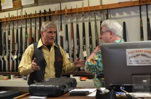 Jim and Ken at Wild West Guns