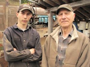 Parker Schnabel and Grandpa John