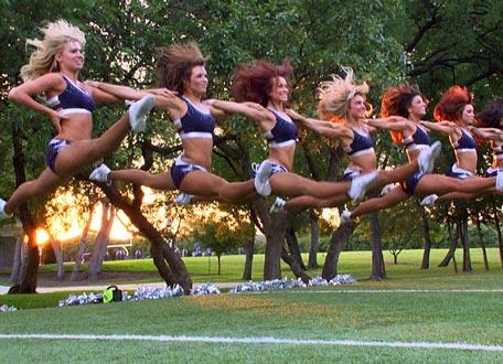dallas cowboys cheerleaders jump split
